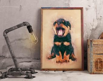 Custom rottweiler | Etsy