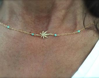 Mary Jane Green Beaded Necklace