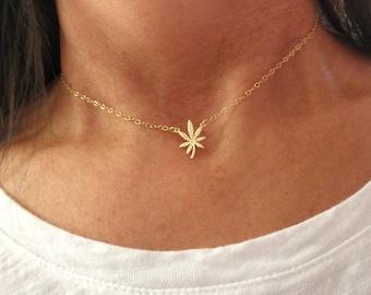 Cannabis  necklace - marijuana necklace - 420 necklace - stoner gift- weed necklace - mary jane - cannabis - stoner jewelry