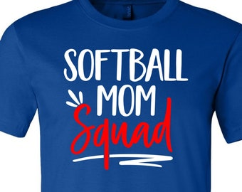Softball Mom, Softball Shirt, Moms Softball Tee, Softball Tee, Softball Mom Squad, Moms Tee, Softball Gift Tee Moms Softball TShirt Softball