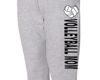 Volleyball Mom, Custom Sweatpants, Volleyball Sweatpants, Volleyball Mom Sweats, Womens Sweatpants, Volleyball Mom Gear, Spirit Wear