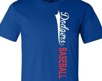 Dodgers Baseball Tee, LA Tee, Baseball Tee, Dodgers T Shirt, LA Baseball, Dodgers Shirt, Tee For Dodgers, Dodgers Tee, Baseball Team,