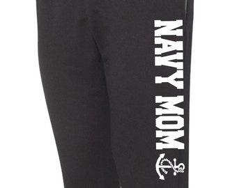 Navy Mom Sweatpants Women's Pants Military Pants Casual Sweats Comfy Sweats Navy Sweats Jogger Sweats Lounge Pants Workout Pants Girls Sweat