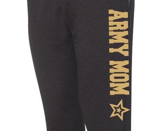 Army Mom Sweatpants Military Pants, Black Pants, Workout Pants, Sweats, Casual Pants, Mom Gift, Army Sweatpants, Army Wife, Jogger Sweats