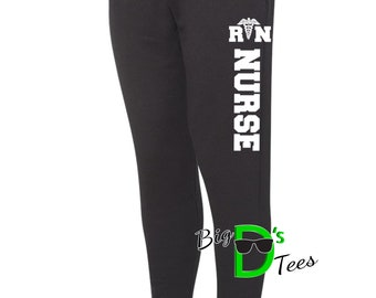 RN Nurse Sweatpants, Nurse Jogger Sweats, Nurse Sweats, Nursing Student, Pants for Nurse, Nurse Appreciation, Nurse Gifts, RN Nurse Sweats