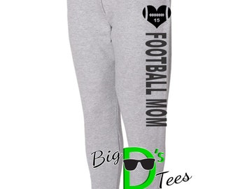 JERZEES Jogger Football Mom Football Spirit Wear Custom Sweatpants Sports Mom Spiritwear Womens Sweatpants Football Mom Gear Football Sweats