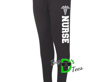 Nurse Sweatpants, Nurse Jogger Sweatpants, Nurse Sweats, Nursing Student, Pants for Nurse, Nurse Appreciation, Nurse Gifts, Nurse, Jogger