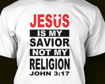 Christian Shirt Jesus Is My Savior Unisex T-Shirt Gift for Her Jesus Tee Religious Tee Gift for Him Not Whole Lot of Jesus Womens Jesus T