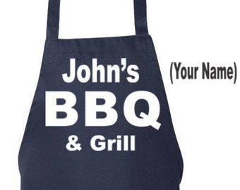Custom BBQ Grilling Apron Gift for Dad 2017, Husband Gift, Fathers Day Gift, His Unique Gift, Anniversary Gift, BBQ Clothes Customized Apron