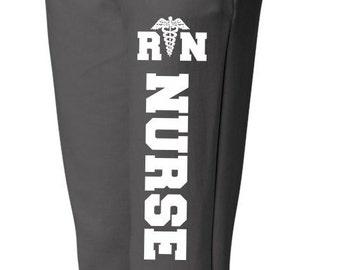 RN Nurse Sweatpants Nurse with Medical Symbol Sweatpants Nurse Sweats Nursing Student Pants for Nurse Nurse Appreciation, Nurse Gifts, Nurse