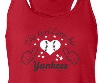 Yankees, Flowy Tank Top, Sports Team Tee, Baseball T Shirt, Yankees Fan Tee, Yankees Shirt, Her Yankees Tee, Shirt for Her, New Yorker Shirt