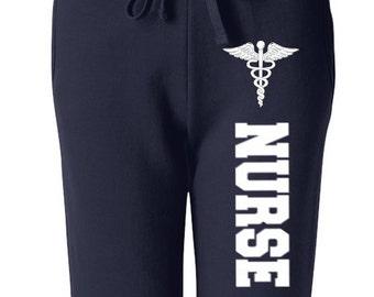 Nurse Sweatpants, Nurse with Medical Symbol Sweatpants Nurse Sweats Nursing Student Pants for Nurse, Nurse Appreciation, Nurse Gifts, Nurse