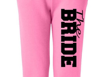 Bridal Party Sweats, Wedding Party Gifts , Bridesmaid Apparel , Bride Pants, Weddings , Bride Sweats , Maid of Honor Sweats , Custom Pants