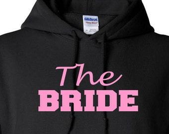 Bride Hoodie Maid of Honor Bridesmaid Hoodie Bridal Party Hoodie Bachorlette Party Bride Sweats Custom Hoodie Personlized Hoodie Customized