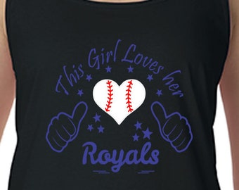 Royals, Racerback Tank Top, Sports Team Tee, Baseball T Shirt, Kansas City Fan Tee Royals Shirt, Her Kansas City Tee Shirt for Her, KC Shirt