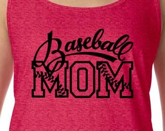 Baseball Mom, Baseball Shirt, Moms Baseball Tee, Baseball Tank, Gift for Mom, Moms Tank, Tank for Mom, Moms Sports Tank, Baseball Moms Tee