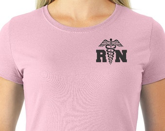 Nurse Tee Shirt with Medical Emblem Registered Nurse, Nurse Gift Ideas, Nurse Shirt Nurse Gift, Nursing Shirt, Shirts for Nurse Nurse TShirt
