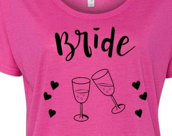 Bride Entourage Slouchy Tee Bachlorette Party T Bachelorette Shirts Bride Tribe T Shirts Bride Entourage Tees Party Shirts Bride Shirts