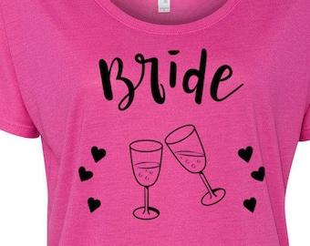 Bride Entourage Slouchy Tee Bachlorette Party T Bachelorette Shirts Bride Tribe T Shirts Bride Entourage Tees Party Shirts Bride Shirts