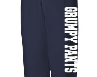 Unisex Sweatpants, Grumpy Pants, Wifey Pants, Casual Pants, Mom Gift, Gift for Her Low Crotch Pants Printed Loose Pants, Loose Bottom Sweats