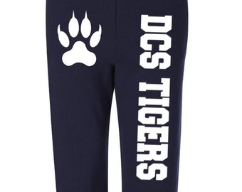 Custom Sweatpants JERZEES Sweatpants Personalized Pants Sweatpants W Design Schools Sweats Company Name Fundraiser Sweats  Bachelor Party