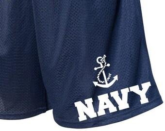 Military Shorts, Navy Shorts, Short with Pockets, Polyester Shorts, Mens Shorts, Womens Shorts, Running Shorts, Athletic Shorts, Long Shorts
