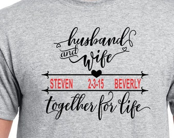 Wedding Couple Tees, Mr and Mrs Clothing, Wedding Shirts, Newlyweds Shirt, Bride and Groom Tees, Anniversary T Shirts, Hubby and Wifey Tees