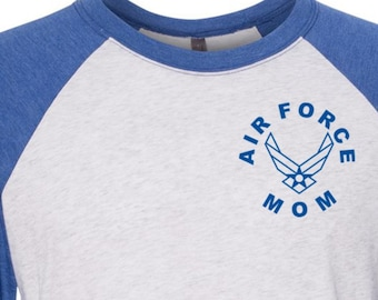 Custom Air Force Mom Womens Baseball Tee Proud Air Force Mom Air Force Mom T Shirts Navy Mom Gifts Gift for Her, Gift Ideas for Mom, Mom Tee