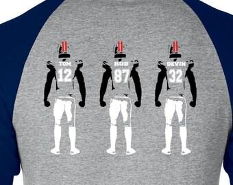 Patriots Raglan, New England Football, Football Raglan, Patriots Shirt, New England T Shirt, Football Shirt Brady Tee Shirt Gronkowski Shirt