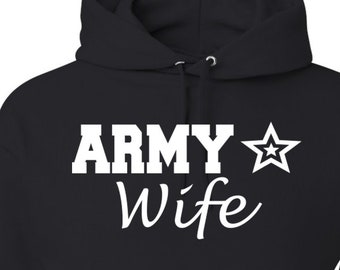 Army Hoodie Army Sweatshirt Gift For Wife Deployment Gift Military Clothing Military Hoodie Armed Forces Apparel Wifey Gift Present for Mom