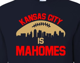 Mahomes Long Sleeve, Kansas City Mahomes, Chiefs, Mahomes Tee Shirt, Football, Kansas City Skyline, KC Football Shirt, Chiefs Tee Shirt