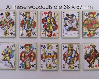 10 X Vintage Style Playing Cards