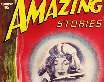 Amazing Stories Magazine Cover Art And Illustrations 40 Etsy