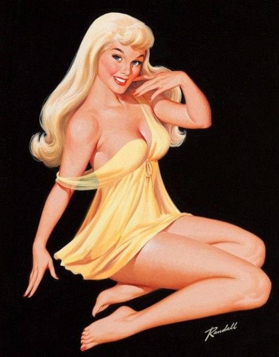 Картинка пин ап блондинка