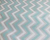 Furnishing fabric helped Panama trend fabric shine Zig zag mint silver chevron