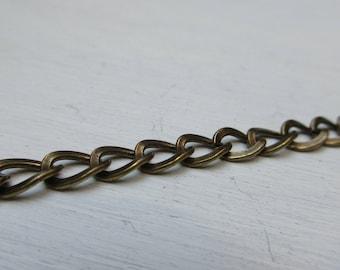 Chain links open bronze 5 mm x 1 m