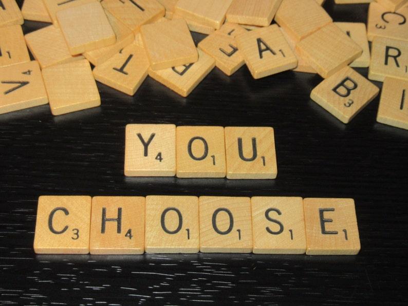 Individual Scrabble letter tiles Authentic Scrabble Tiles image 0