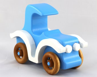 Wooden Toy Car, Model-T Coupe, Old Timey Car, Bad Bob's Custom Motors Series, Old Fashioned Wooden Car, Vintage Wood Car