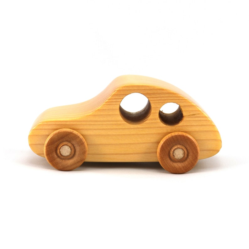 Hand Made Wooden Toy Car Classic 1957 Bug From the Play Pal image 0
