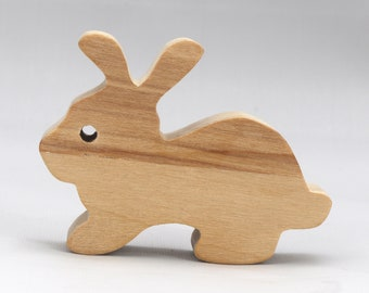 Small Wood Toy Bunny Rabbit Unfinished - Itty Bitty Bunny - Wooden Animal Toy - Handmade