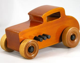 Wooden Toy Car, 32 Ford Deuce Coupe, Little Deuce Coupe, Hot Rod, Race Car, Street Rod, Dragster, Speedster, Wood Toy, Boys, Girls