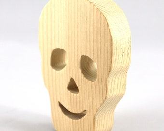 Halloween Skull Cutout - Handmade - Wood