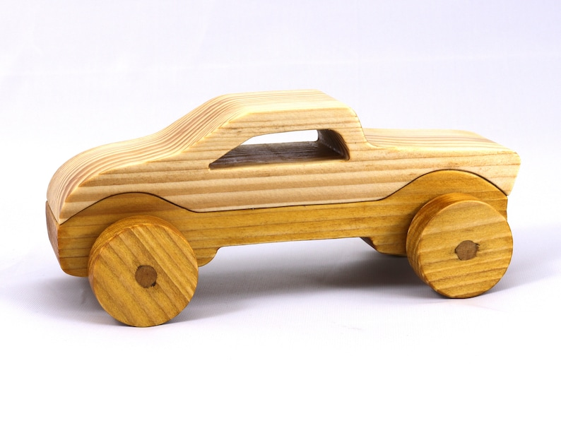 Handmade Wooden Toy Car Hot Rod Roadster Coupe or Truck From image 0
