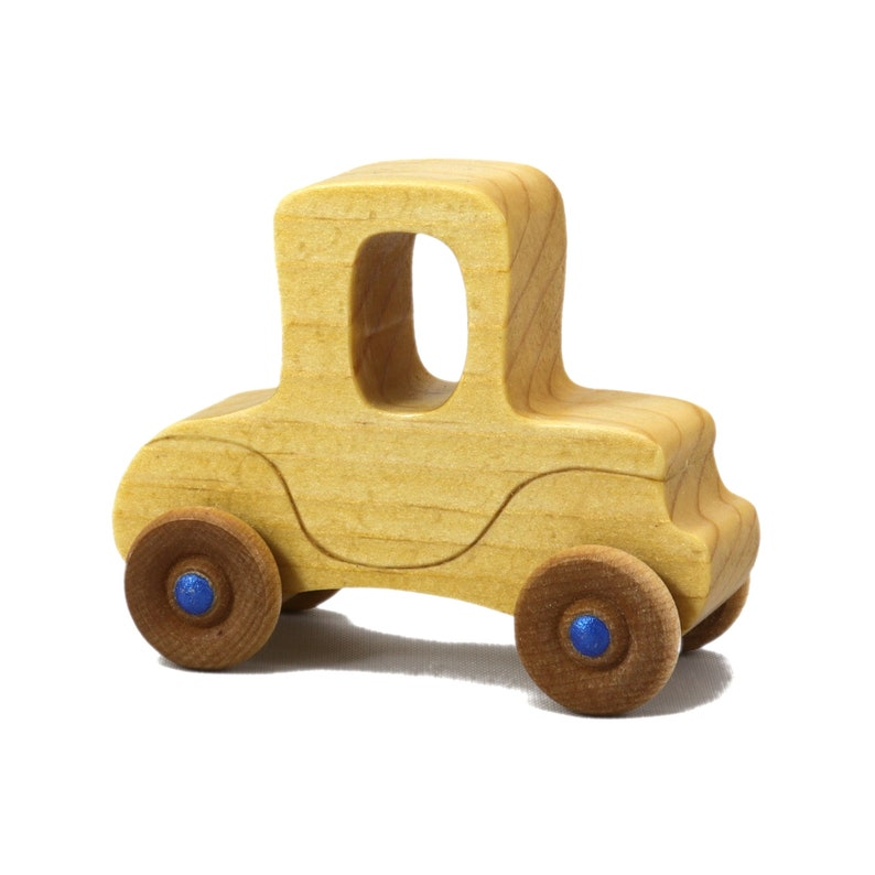 Handmade Wooden Toy Car Itty Bitty Mini Model-T Play Pal image 0