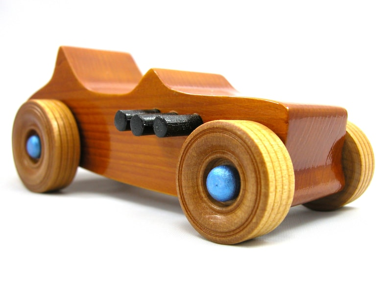 Handmade Wooden Toy Car  Hot Rod 1927 T-Bucket Finshed With image 0