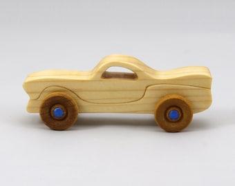 Wood Toy Car Itty Bitty Mini Play Pal Size Pocket Car
