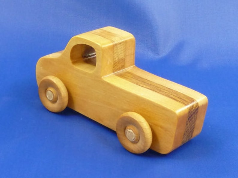 Handmade Wooden Toy Truck Made From 100% Hardwood Pickup image 0