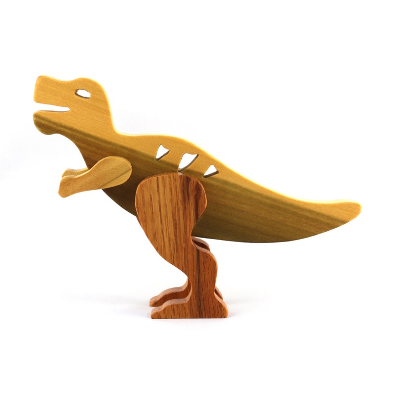 Wooden Toy Dinosaur Tyrannosaurus Rex T-Rex image 0