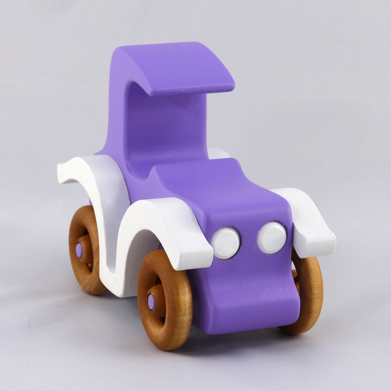 Handmade Wooden Toy Car Model-T Coupe Old Timey Car Bad image 0