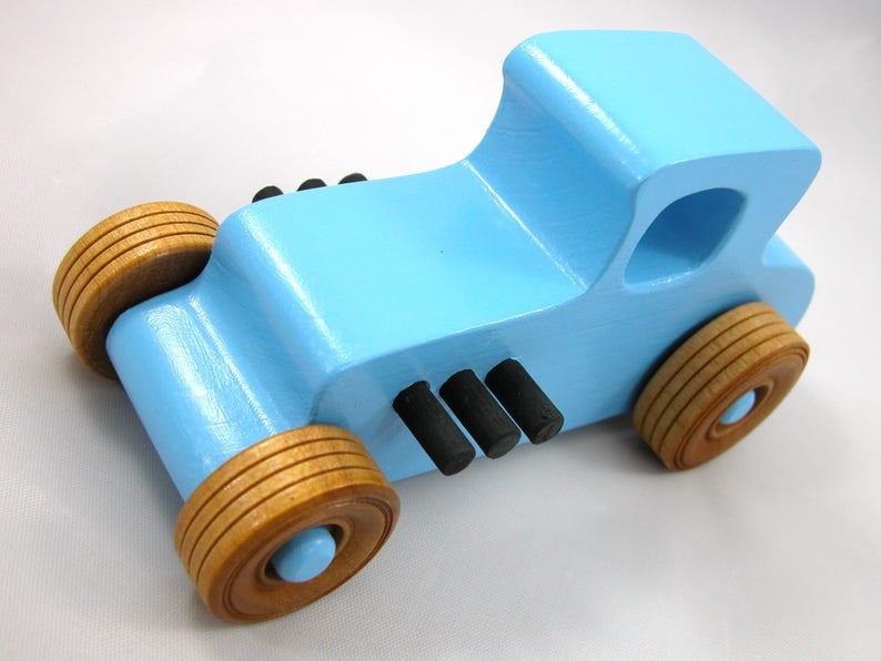 Wooden Toy Car Hot Rod Coupe image 0